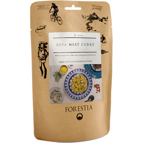 Forestia Outdoor Pasto pronto vegano 350g, Soya Meat Curry with Long Grain & Wild Rice